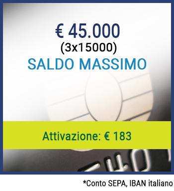 Conto per Privati Protestati - Saldo massimo 45.000 €